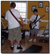 Billy and his Buddy Ian Jam in in the den